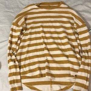 aerie real soft long sleeve striped shirt